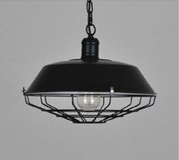 Wholesale art deco paintings for sale - loft American industrial pendant lighting vintage lighting for dining room iron black rust painted E27 Edison bulb home lamp