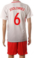 Wholesale Set Cheap Cups - Customized 16-17 Cheap European Cup Poland 6 JODLOWIEC Soccer Jersey Sets,discount Cheap 8 RYBUS uniforms,mens 7 MILIK Football Jersey KITs