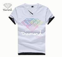 Wholesale New Unique Design Neck - Diamond Supply Co Men's t shirts New Summer Fashion Cool Men T-shirt diamond supply tshirt Unique Design Short Sleeve