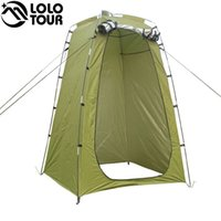 Leve leve Camping Shower Tent Awning Canvas Folding Outdoor Toilet Room Privacidade Mostrando Changing Clothes Tente White