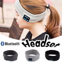 Wholesale Headband Handband - Bluetooth Earphone Handband Edge Yoga Hat Sport Cap Headset Wireless Hand Band Earplug Music Player Handphone Handfree Beanieb Hair Band