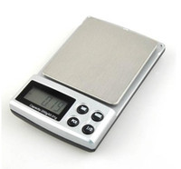 Kitchen Scale case weighing scales - 50pcs by fedex dhl g g Digital Electronic Jewelry diamond scale Weighing Portable kitchen weight balance with leather case