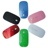 Wholesale Computer Finger Wireless Mouse - Newest 2.4G Receiver USB Optical Wireless Mouse Super Slim 6 Colors Cordless Computer PC Laptop Desktop Mouse free Shipping