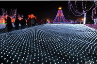 Wholesale Large Christmas Net Lighting - Led Net Lights Large Outdoor Christmas Decorations Garden Mesh Fairy Light Christmas Outdoor Waterproof 3M*2M200LED AC110v 220V