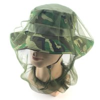 Outdoor Anti Mosquito Midge Fly Insect Hat Gauze Net Mask Pêche Camping Face Protect Hedging Nets Cap Cover 70D Nylon Netting