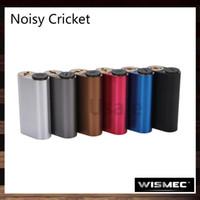 Wholesale Hybrid Mods - Wismec Noisy Cricket Mod SMPL Style Button and Hybrid Adaptor Box Mod Best Match Indestructible RDA Atomizer 100% Original
