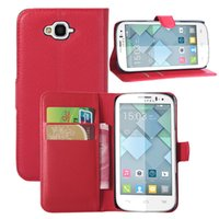 Für One Touch Pop C7 Fall Litchi Textur PU Leder Flip Case für Alcatel Pop C7 OT7040 Wallet Stil Telefon Fall