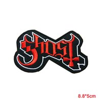 Wholesale Heavy Sewing - Ghost Sew Iron On Patch Embroidered Logo Rock Band Music Heavy Metal Punk DIY