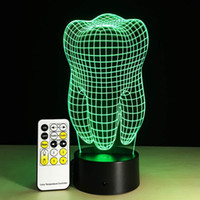 Vente en gros - Fantastic Design 3D DECOR Forme dentaire Creative Night Light Cool Table Lamp Touch / Remote Switch
