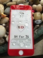 temperli gözlük ekran koruyucusu toptan satış-Yeni 5D Temperli Cam Ekran Telefon için 8 HD Crystal Clear 9 H Sertlik Anti-Patlama Ekran Gözlük Koruyucu