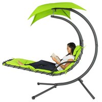 Compra Sedie Pneumatiche-Pendente Chaise Lounger Sedia Arco Stand Aria Porch Swing Hammock Canopy (Verde)