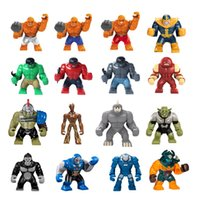 Wholesale Giant Wholesale - Giant Figures Super Heroes Minifig Dogshank Juggernaut Venom Hulk Buster Groot Igor Thing Grood Goblin Darkseid Mini Building Blocks Figures