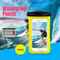 Wholesale Silicone Cellphone Bag - Waterproof Case Universal Camouflage Wate Proof Bag For iphone 10 iphone 8 Plus Diving Swimming Cellphone Case For Samsung S8