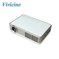Wholesale Portable Led Projector Full Hd - Android 4.4 1080p Portable Full HD Mini 3D LED Home Theater Cinema Multimedia Video Game Projector Beamer