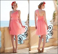 Wholesale Only Shorts Sky - Only $79 Cheap Chiffon Short Bridesmaid Dresses 2017 Summer Beach Maid of Honor Gowns Pleated A Line Short Formal Wedding Guest Gowns Custom