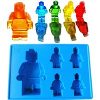Wholesale Soft Silicone Ice Cube Tray Mini Figure Mold Baking for Kids DIY Mould with Multi Colors R005