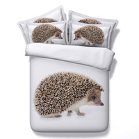 Wholesale Boys Full Size Comforter - Wholesale- Hedgehog animal quilt cover bedding sets single double queen king size classical white 3d printed boys comforter bed sheets