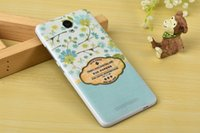Wholesale Note2 3d Cases - Printing Case for red rice note2 DIY Back Cover for RED MI note2 Soft TPU Material Shell 3D TPU cover for RED RICE