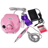 Wholesale Nail Drills Wholesale - Factory Price!!! Nail Art Equipment Electric Acrylic Nail Art Drill Nail Polish Machine File Buffer Bits Manicure Pedicure Kit 110v - 220v