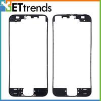 iphone bezel sticker achat en gros de-Cadre de lunette de haute qualité pour iPhone 5S LCD Digitizer Frame lunette écran lunette avec colle autocollante adhensive navire gratuit par DHL