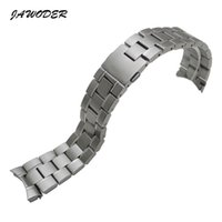 JAWODER Watchband 22mm Men Pure Solid Curved End Stainless Steel Pulseira de relógio escovado Braceletes para TAG HEUER CARRERA