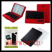 Wholesale Detachable Ipad Keyboard - Detachable Wireless Bluetooth Keyboard leather Case Stand For ipad pro 9.7 air mini 2 3 4 5 6 Samsung Galaxy tab 3
