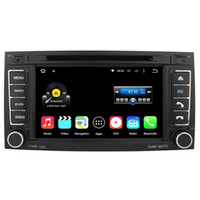 Wholesale Dvd Vw T5 - Quad Core Android 5.1.1 Car DVD Stereo Player For VW TOUAREG 2004-2011 T5 Multivan -2009 Transporter -2009 With Radio