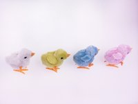 Wholesale cute chicken toys online - on spring chicken stuffed chick jumping on the chain simulation cute baby chick novelty toys