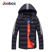 Wholesale Thicken Fleece Parka - JOOBOX men Padded cotton hooded coat winter warm jacket outdoors Thickening outwear coats Thick Clothing Male Casual Zipper Down Parkas