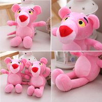 107 HANCHENTE Pequeno 30cm The Pink Panther Stuffed Plush Toy Keychain Mini Ornamento de charme para Bolsa de viagem Gift Cell Gift