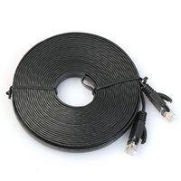 cabo de rede plana cat6 venda por atacado-Atacado-Flat Cat6 Rede Ethernet Patch Cable Modem Router RJ45 para rede LAN