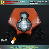 Wholesale Streetfighter Bike - Queen-X Motorcycle Dirt Bike Supermoto Universal LED Headlights Headlamp StreetFighter For KTM EXC EXCF SX XC XCR XCW XCF SXF