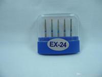 Wholesale Dental Diamonds Burs - 5 pcs Dental Diamond Burs EX-24 Medium FG for High Speed Handpiece