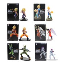 Wholesale Finish Model - New Banpresto Dramatic Showcase Dragon Ball Z Kai Goku Gohan and Cell PVC Action Figure Model 12cm-17cm