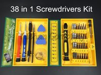 Wholesale Tool Box Screwdriver Set - 38 in 1Precision Multipurpose Screwdriver Set Repair Opening Tool Kit Fix For Iphone  laptop  smartphone  watch with Box Case
