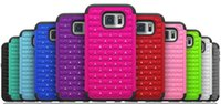 PC Silikon Bling verziert Diamond Case Hybrid Armor Rhinestone Phone Cover für Samsung Galaxy S7 Edge S7 Plus S6 Edge Plus S5 S4