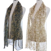Wholesale Leopard Pattern Scarves - 158*68cm New Brand 2016 Fashion Chiffon Scarf Skull Print Scarves Leopard Printed fashion Wraps 57 Patterns Shawl Cape BK024