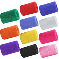Wholesale Tennis Wristbands Wholesale - 3 Styles Sports Sweatband Tennis Squash Badminton Terry Cloth Wrist Sweat Bands Basketball Gym Wristband Crossfit Wrist Wraps Supports