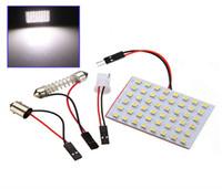 Wholesale Universal Car Door Panels - High Power 1210 48 SMD LED White Car LED Interior Room Dome Door Car Light Panel Lamp Bulb