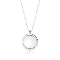 925 kolye toptan satış-Yüzer Lockets Otantik 925 Gümüş Boncuk Madalyon Kolye Avrupa Pandora Tarzı Takı Charms Kolye Uyar 590530