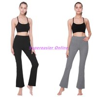 Wholesale Bell Bottom Dance Pants - Casual Elastic Waist Sportswear Full Length Capris Woman Yoga Flare Pants Loose Sweatpants Hip Hop Dance Bell Bottom Sports Pants Trousers