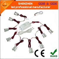 ingrosso luce di mini dimensioni ha condotto-9pcs / set LED exihibition Lampada da parete spot light led mini plafoniera mini led downlight taglio formato 20mm