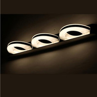 Wholesale Wholesale Lighted Vanity Mirror - led mirror light 9w front bathroom wall lamp Stainless Steel mirror vanity lights bedroom living led modern wall mount lamps