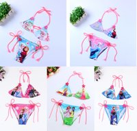 Wholesale Snow Child Suit - 5 Styles Frozen Snow White Princess Girls Bikini Swimsuit Set NEW Children summer Princess elsa anna swimwear swimming suit Free Shipping