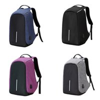 Wholesale Macbook Pro 15 Backpack - Canvas Men Backpack Anti Theft With Usb Charger Laptop Business Unisex Knapsack Shoulder Waterproof Women Travel Bag