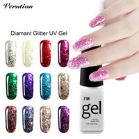 Оптово-Verntion Soak Off Gel Lacquer Горячее сбывание vernis semi постоянный 3d Diamond счастливый цвет Gold Glitter UV Led Nail Gel Polish