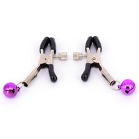 Wholesale Cheap Adult Games Toys - 8pcs lot Cheap Steel Metal sexy Breast Nipple Clamps Adult Game Fetish Flirting Teasing Sex Toys For Women Nipple Stimulators