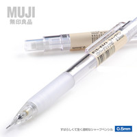 Wholesale Mechanical Pencil Leads - 2016 new muji mechanical pencil classic pure transparent lead pencil student pencil 0.5mm factory price(2)