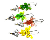 Wholesale Plastic Frog Fishing Lure - Fishing Single Hook Lure Mixed 11 Models Fishing Tackle 4 Color Plastic Minnow Lure Crank Lures Fishing Bait Frog Fish 8cm 6.2g Free DHL