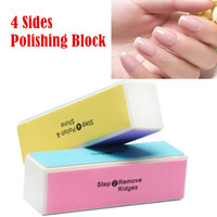 Wholesale 2PCS Professional Colorful Way Nail Art Buffer Files Polishing Block Grinding Tools Nail Sponge Sanding Block